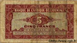 5 Francs AFRIQUE OCCIDENTALE FRANÇAISE (1895-1958)  1942 P.28b TB