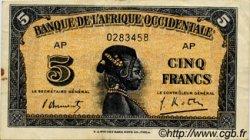 5 Francs type 1942 AFRIQUE OCCIDENTALE FRANÇAISE (1895-1958)  1942 P.28b TTB