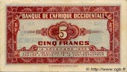 5 Francs type 1942 AFRIQUE OCCIDENTALE FRANÇAISE (1895-1958)  1942 P.28b SUP