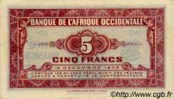 5 Francs AFRIQUE OCCIDENTALE FRANÇAISE (1895-1958)  1942 P.28b SPL