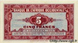 5 Francs AFRIQUE OCCIDENTALE FRANÇAISE (1895-1958)  1942 P.28b NEUF