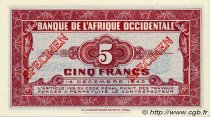 5 Francs type 1942 AFRIQUE OCCIDENTALE FRANÇAISE (1895-1958)  1942 P.28s2