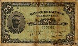 25 Francs type 1942 AFRIQUE OCCIDENTALE FRANÇAISE (1895-1958)  1942 P.30a B