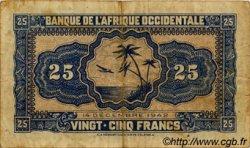 25 Francs AFRIQUE OCCIDENTALE FRANÇAISE (1895-1958)  1942 P.30a TB