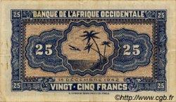 25 Francs type 1942 AFRIQUE OCCIDENTALE FRANÇAISE (1895-1958)  1942 P.30a TB+