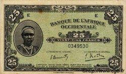 25 Francs type 1942 AFRIQUE OCCIDENTALE FRANÇAISE (1895-1958)  1942 P.30a TTB