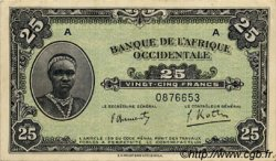 25 Francs type 1942 AFRIQUE OCCIDENTALE FRANÇAISE (1895-1958)  1942 P.30a SUP