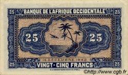 25 Francs AFRIQUE OCCIDENTALE FRANÇAISE (1895-1958)  1942 P.30a SUP