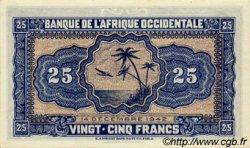 25 Francs type 1942 AFRIQUE OCCIDENTALE FRANÇAISE (1895-1958)  1942 P.30a pr.NEUF