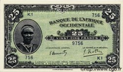 25 Francs type 1942 AFRIQUE OCCIDENTALE FRANÇAISE (1895-1958)  1942 P.30a SPL