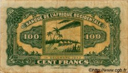 100 Francs type 1942 AFRIQUE OCCIDENTALE FRANÇAISE (1895-1958)  1942 P.31a TB