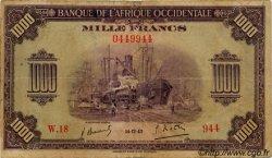 1000 Francs type 1942 AFRIQUE OCCIDENTALE FRANÇAISE (1895-1958)  1942 P.32 pr.TB