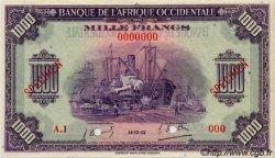 1000 Francs AFRIQUE OCCIDENTALE FRANÇAISE (1895-1958)  1942 P.32s SPL+