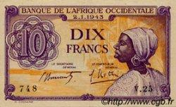 10 Francs type 1943 AFRIQUE OCCIDENTALE FRANÇAISE (1895-1958)  1943 P.29 SUP+