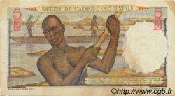 5 Francs type 1943 AFRIQUE OCCIDENTALE FRANÇAISE (1895-1958)  1943 P.36 TB+
