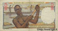 5 Francs type 1943 AFRIQUE OCCIDENTALE FRANÇAISE (1895-1958)  1943 P.36 TTB