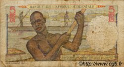 5 Francs type 1943 AFRIQUE OCCIDENTALE FRANÇAISE (1895-1958)  1943 P.36 B+