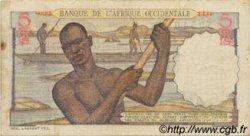 5 Francs AFRIQUE OCCIDENTALE FRANÇAISE (1895-1958)  1943 P.36 TB+