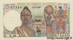 5 Francs type 1943 AFRIQUE OCCIDENTALE FRANÇAISE (1895-1958)  1943 P.36 pr.NEUF
