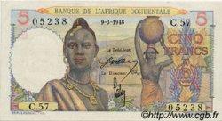 5 Francs AFRIQUE OCCIDENTALE FRANÇAISE (1895-1958)  1948 P.36 SPL+