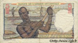 5 Francs type 1943 AFRIQUE OCCIDENTALE FRANÇAISE (1895-1958)  1952 P.36 TB
