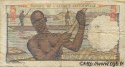 5 Francs AFRIQUE OCCIDENTALE FRANÇAISE (1895-1958)  1953 P.36 TB