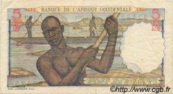 5 Francs type 1943 AFRIQUE OCCIDENTALE FRANÇAISE (1895-1958)  1953 P.36 TTB