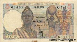 5 Francs type 1943 AFRIQUE OCCIDENTALE FRANÇAISE (1895-1958)  1954 P.36 TTB