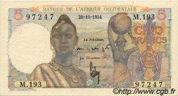 5 Francs AFRIQUE OCCIDENTALE FRANÇAISE (1895-1958)  1954 P.36 pr.NEUF