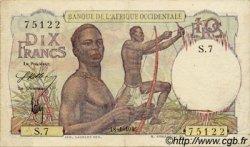 10 Francs type 1946 AFRIQUE OCCIDENTALE FRANÇAISE (1895-1958)  1946 P.37 TTB