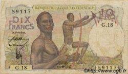 10 Francs type 1946 AFRIQUE OCCIDENTALE FRANÇAISE (1895-1958)  1947 P.37 TB