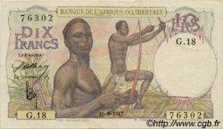 10 Francs type 1946 AFRIQUE OCCIDENTALE FRANÇAISE (1895-1958)  1947 P.37 TTB