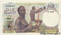 10 Francs type 1946 AFRIQUE OCCIDENTALE FRANÇAISE (1895-1958)  1946 P.37s pr.NEUF