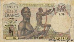 10 Francs AFRIQUE OCCIDENTALE FRANÇAISE (1895-1958)  1948 P.37 TB