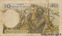 10 Francs type 1946 AFRIQUE OCCIDENTALE FRANÇAISE (1895-1958)  1949 P.37 TB