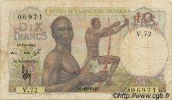 10 Francs AFRIQUE OCCIDENTALE FRANÇAISE (1895-1958)  1949 P.37 TB