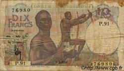 10 Francs type 1946 AFRIQUE OCCIDENTALE FRANÇAISE (1895-1958)  1951 P.37 B