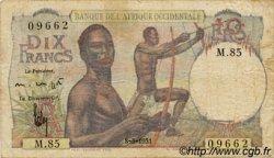 10 Francs AFRIQUE OCCIDENTALE FRANÇAISE (1895-1958)  1951 P.37 TB