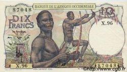 10 Francs type 1946 AFRIQUE OCCIDENTALE FRANÇAISE (1895-1958)  1952 P.37 SPL