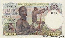 10 Francs type 1946 AFRIQUE OCCIDENTALE FRANÇAISE (1895-1958)  1953 P.37 pr.NEUF