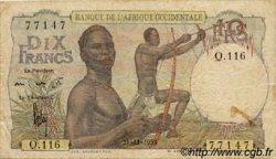 10 Francs type 1946 AFRIQUE OCCIDENTALE FRANÇAISE (1895-1958)  1953 P.37 TB