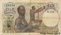 10 Francs AFRIQUE OCCIDENTALE FRANÇAISE (1895-1958)  1953 P.37 TTB