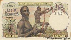 10 Francs type 1946 AFRIQUE OCCIDENTALE FRANÇAISE (1895-1958)  1953 P.37 TTB+