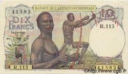 10 Francs type 1946 AFRIQUE OCCIDENTALE FRANÇAISE (1895-1958)  1953 P.37 pr.SPL