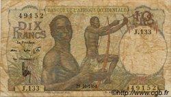 10 Francs type 1946 AFRIQUE OCCIDENTALE FRANÇAISE (1895-1958)  1954 P.37 B+