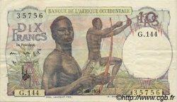 10 Francs AFRIQUE OCCIDENTALE FRANÇAISE (1895-1958)  1954 P.37 TTB+