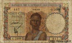 25 Francs AFRIQUE OCCIDENTALE FRANÇAISE (1895-1958)  1943 P.38 B