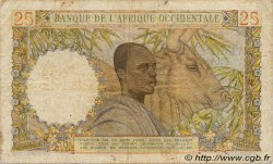 25 Francs AFRIQUE OCCIDENTALE FRANÇAISE (1895-1958)  1943 P.38 TB