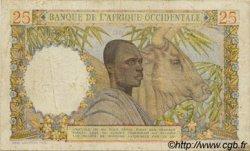 25 Francs type 1943 AFRIQUE OCCIDENTALE FRANÇAISE (1895-1958)  1943 P.38 TB+