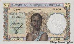 25 Francs AFRIQUE OCCIDENTALE FRANÇAISE (1895-1958)  1943 P.38s pr.NEUF